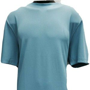 LOG-IN UOMO Men's Turquoise T-Shirt Ribbed Pattern